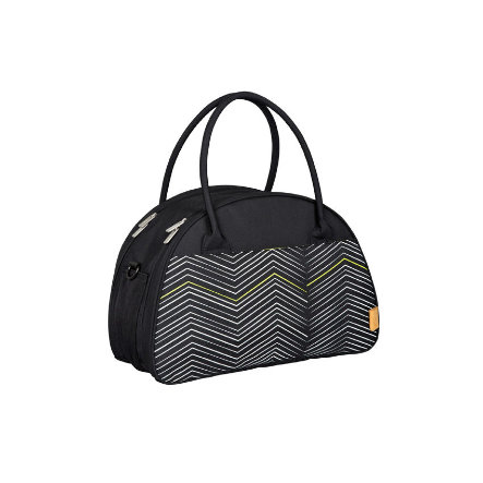LÄSSIG Skötväska Casual Shoulder Bag Zigzag black & white