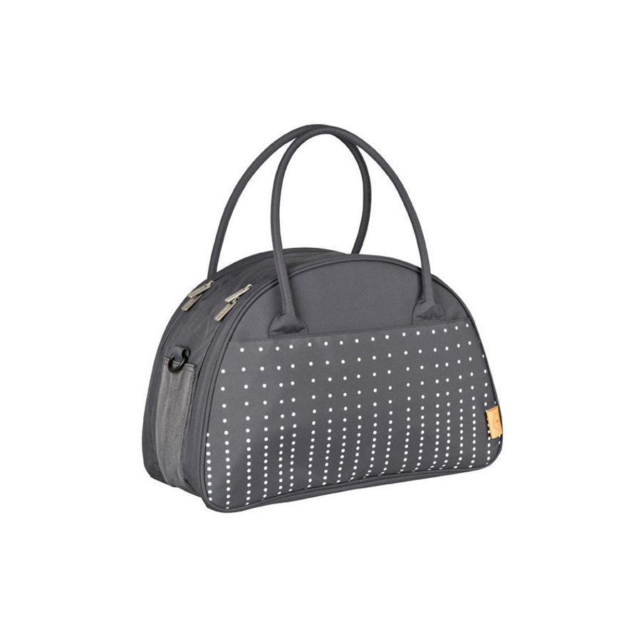 LÄSSIG Nappy Bag Casual Shoulder Bag Dotted lines ebony