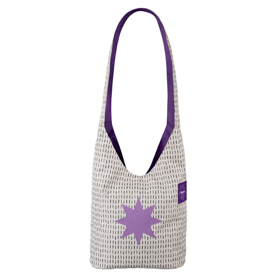 LÄSSIG Přebalovací taška Casual Fan Shopper Twinkle lavender
