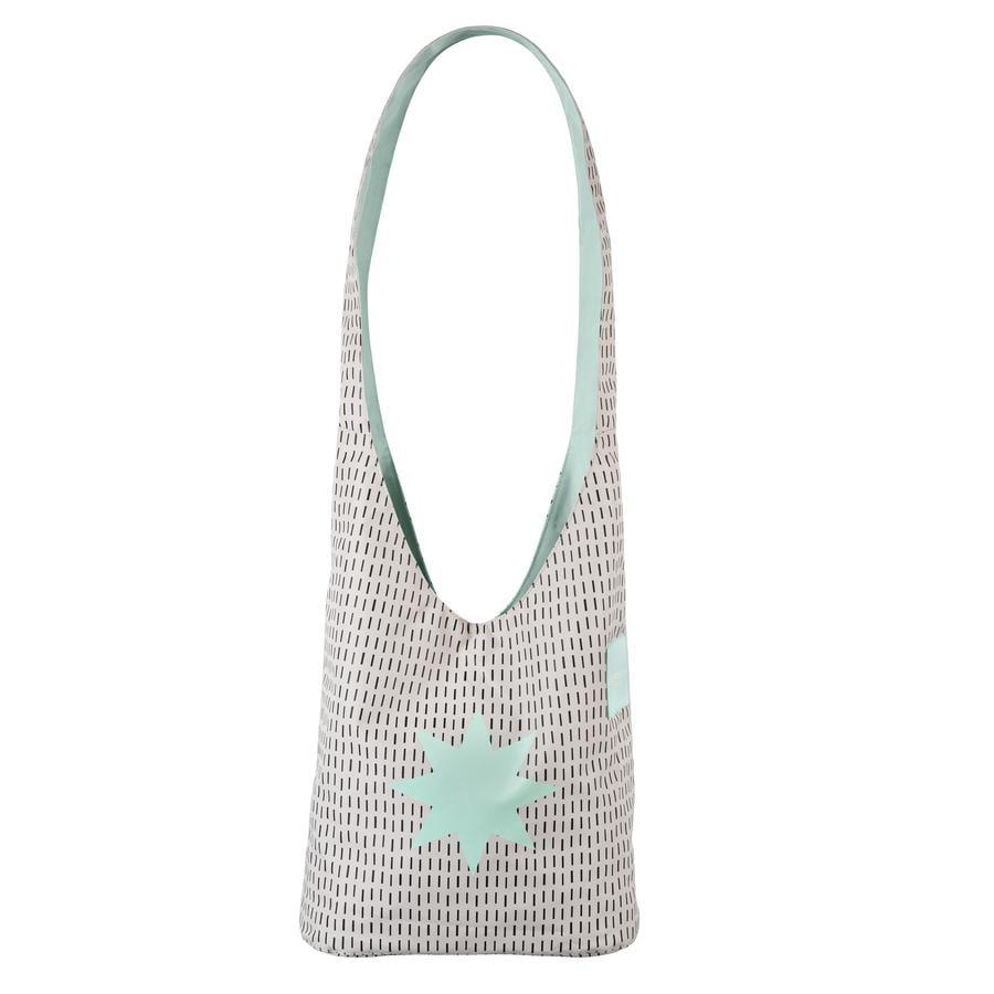 LÄSSIG borsa fasciatoio Casual Fan Shopper Twinkle misty jade