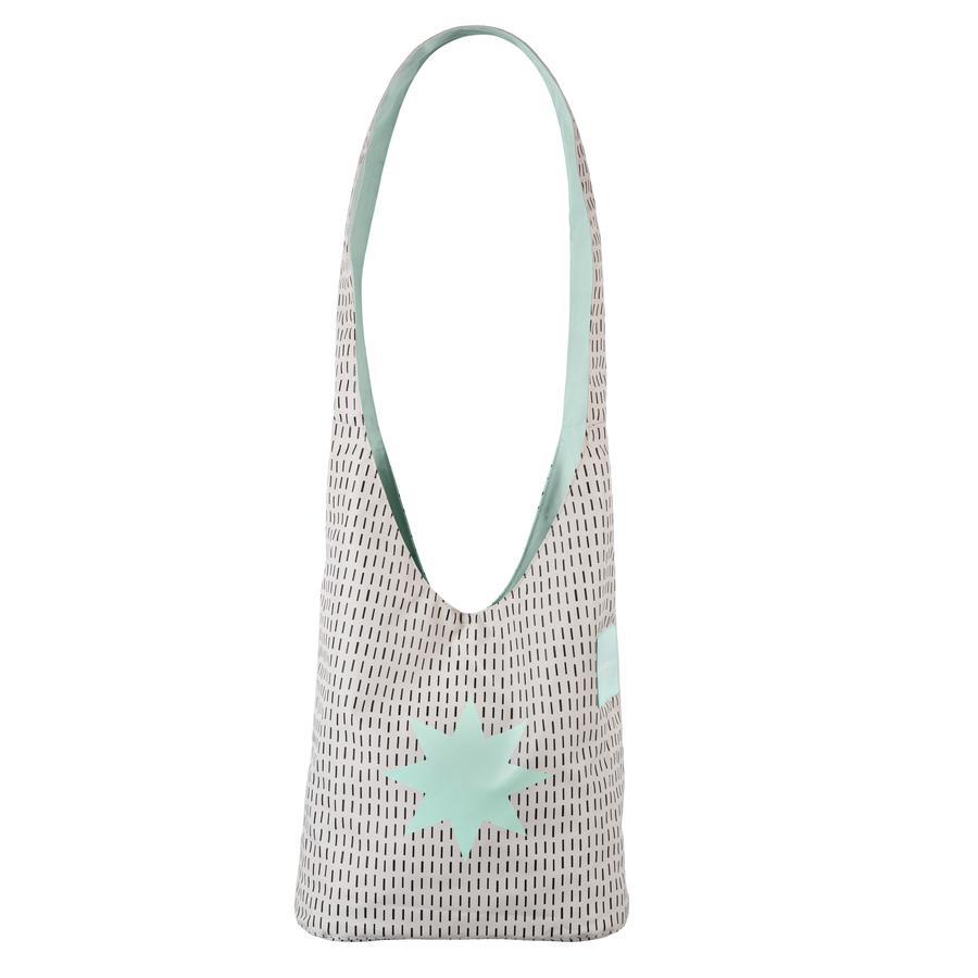 LÄSSIG Přebalovací taška Casual Fan Shopper Twinkle misty jade