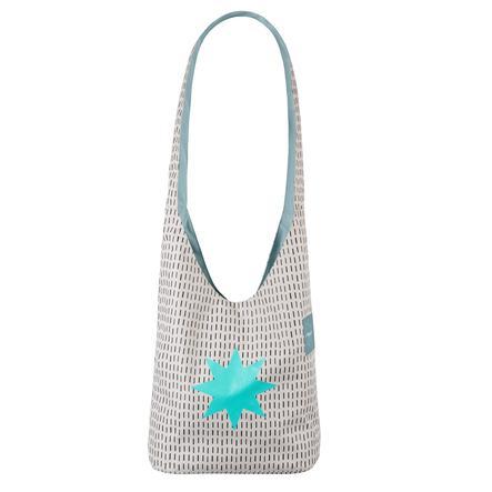 LÄSSIG borsa per pannolini Casual Fan Shopper Twinkle aqua