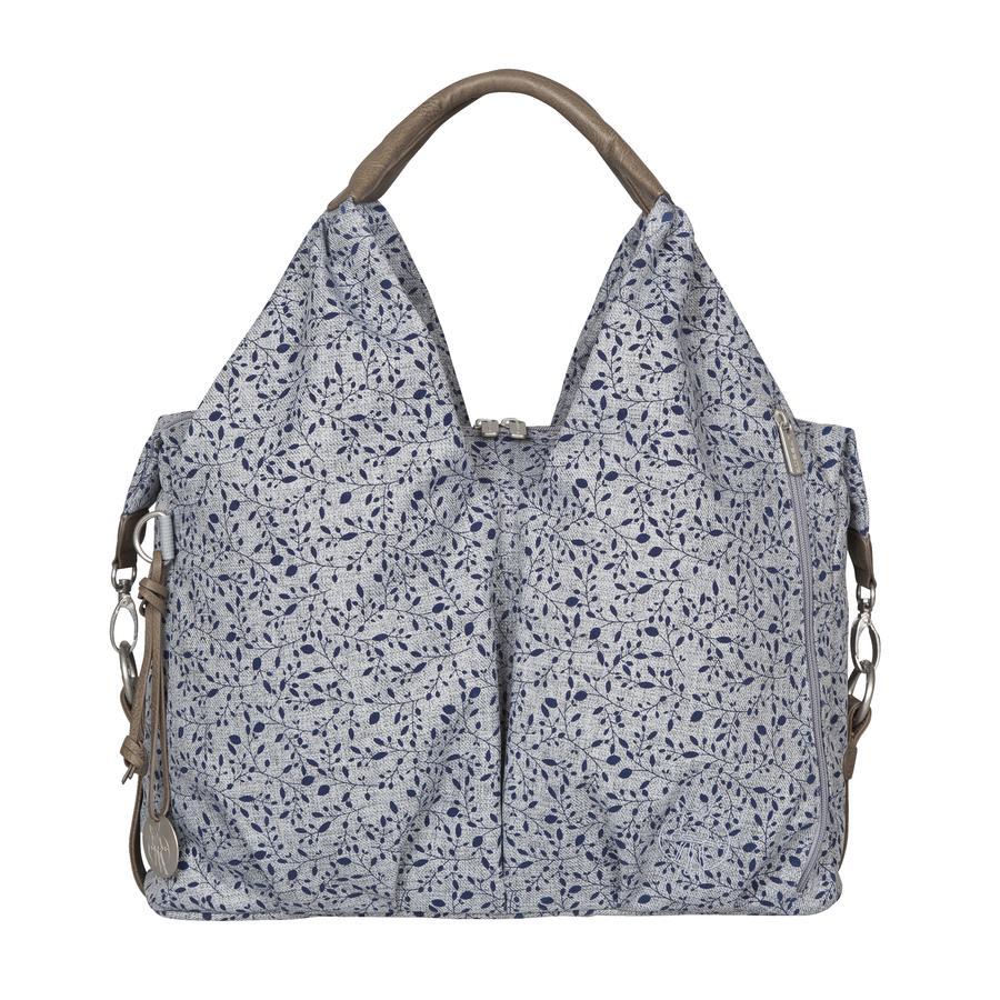 LÄSSIG Přebalovací taška Green Label Neckline Bag Allover Fleur choco mélange