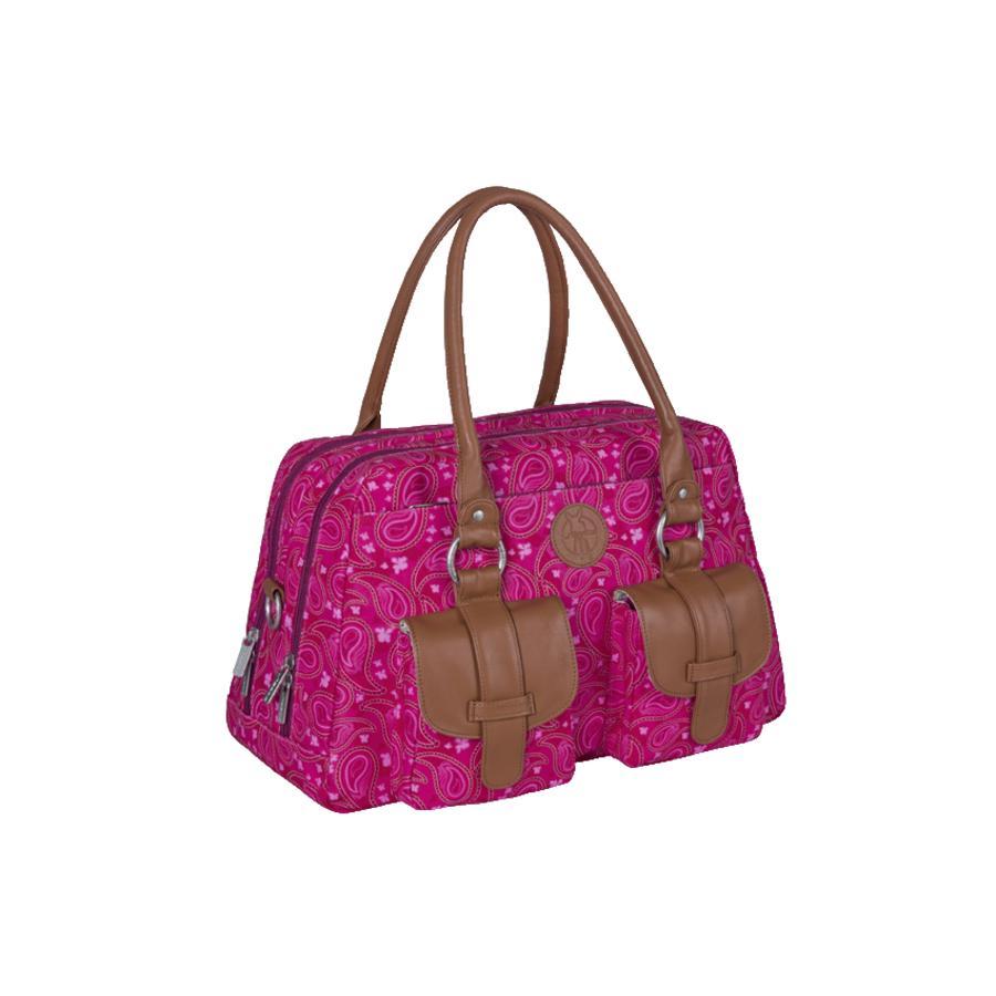 LÄSSIG Borsa per pannolini Vintage Metro Bag Paisley rosa