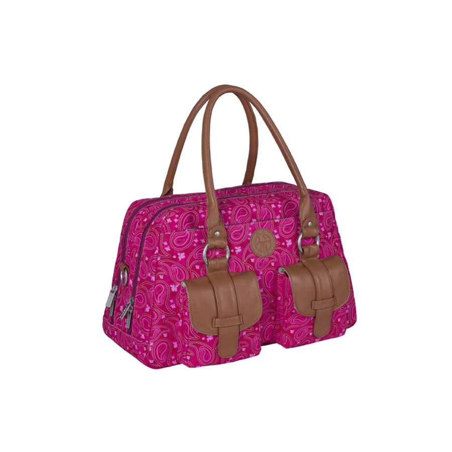 LÄSSIG Sac à langer Vintage Metro Bag Paisley, rose