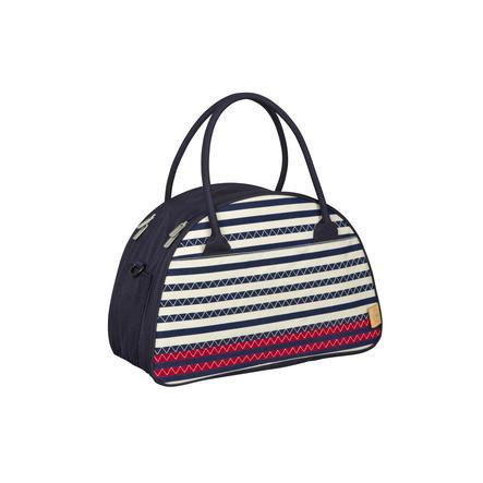 LÄSSIG Luiertas Casual Shoulder Bag Striped Zigzag navy