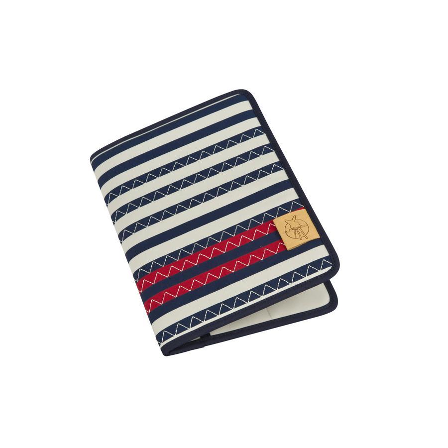 LÄSSIG Sac Mums Organizer Casual Striped Zigzag, bleu marine