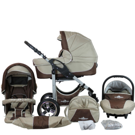 bergsteiger Combi-Kinderwagen Capri coffee & brown