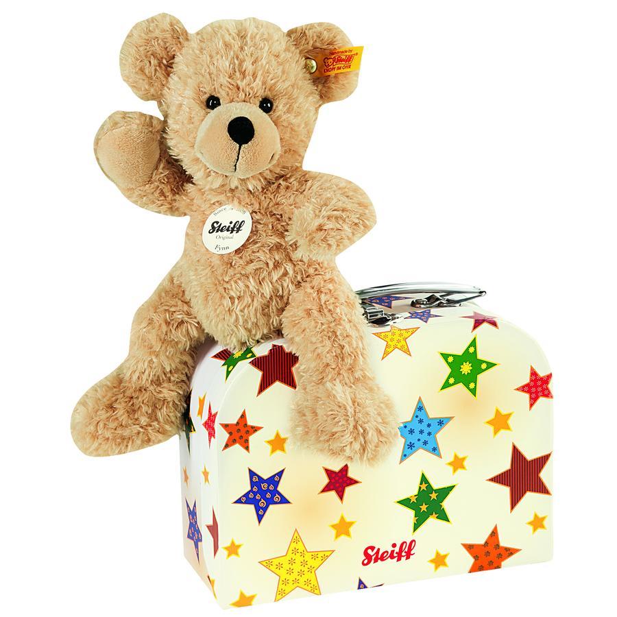 STEIFF Teddy-karhu Fynn ja matkalaukku, 23 cm