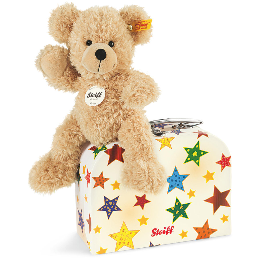 Steiff Teddybear i kuffert Fynn 23 cm