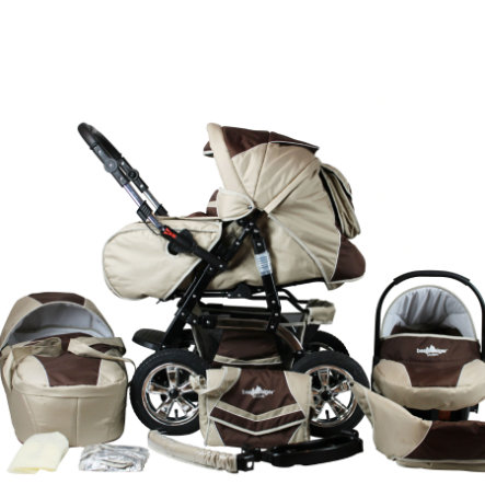 BERGSTEIGER Combi Kinderwagen Milano coffee & brown