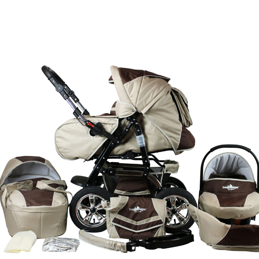 bergsteiger Kombi-Kinderwagen Milano coffee & brown
