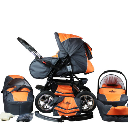 BERGSTEIGER Combi Kinderwagen Milano orange & grey