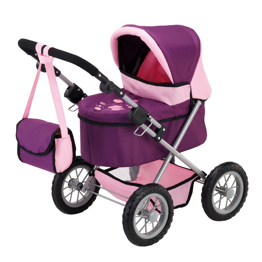 BAYER DESIGN Wózek dla lalek Trendy, kolor śliwkowy, z łóżeczkiem turystycznym