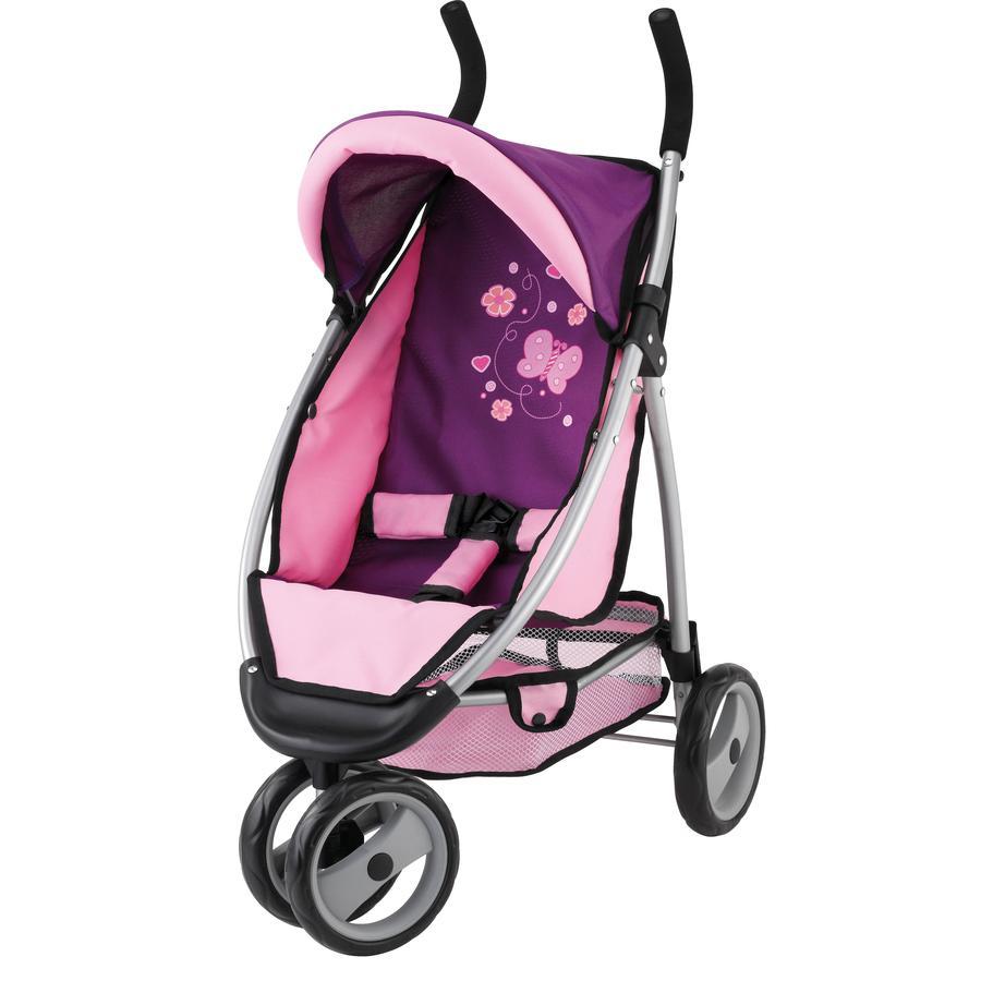 BAYER DESIGN Wózek Jogger Sport dla lalek, kolor śliwka