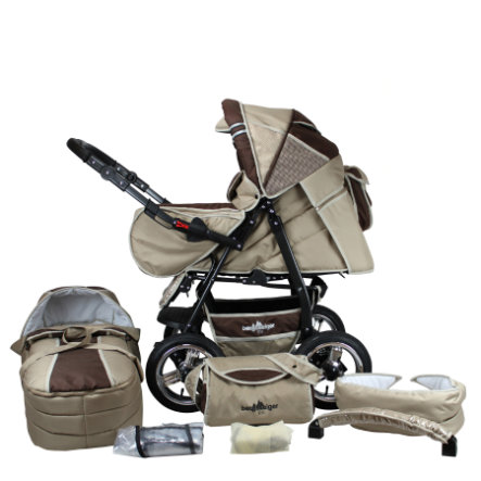 bergsteiger Kombi-Kinderwagen Rio coffee & brown