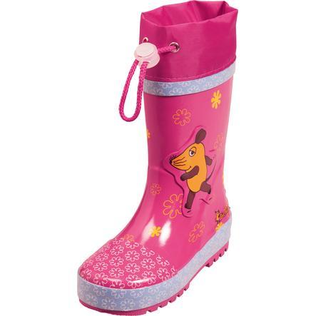 PLAYSHOES Botas de agua rosa Ratón - Flores