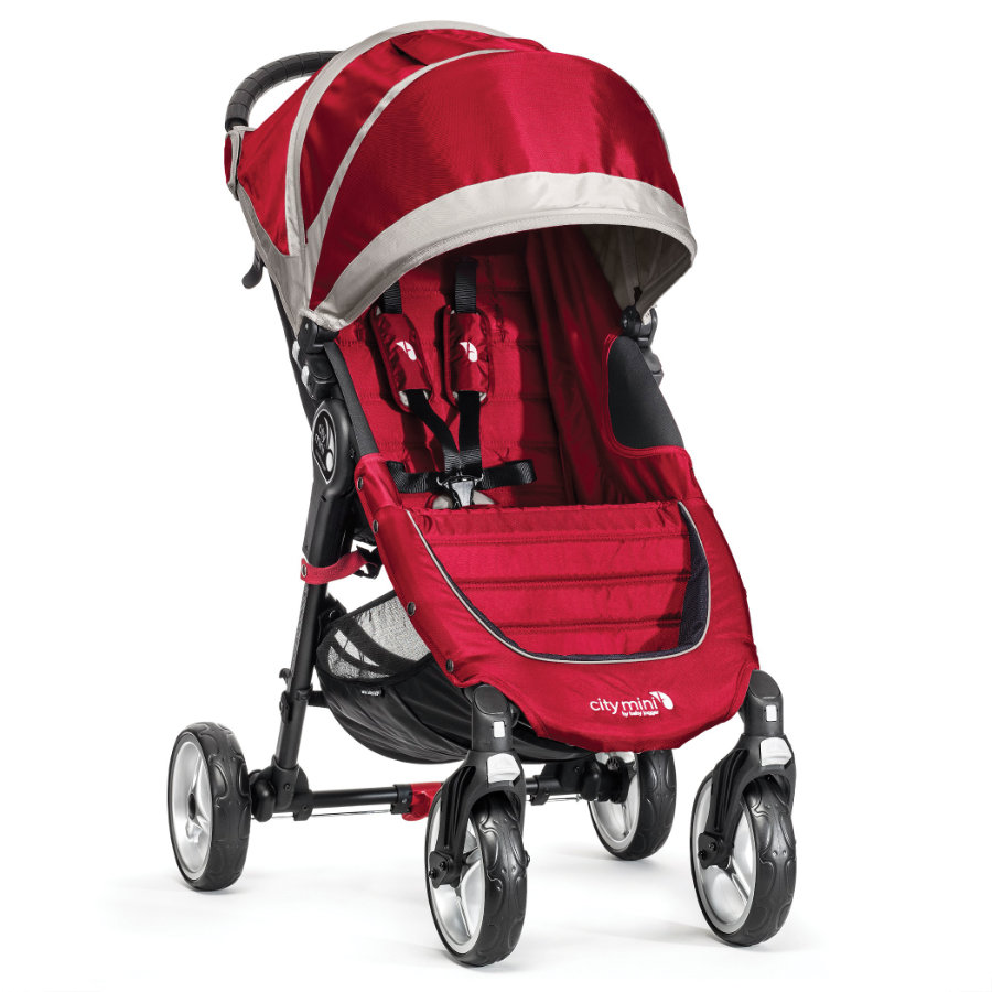 Baby Jogger Sittvagn City Mini 4W crimson / gray