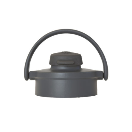 LIFEFACTORY Flip Top Cap, Sporttikorkki lasipulloille, Graphit/Carbon