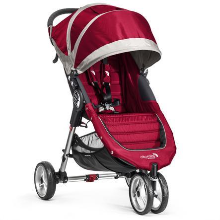 Baby Jogger Buggy City Mini 3-Wheel crimson / gray