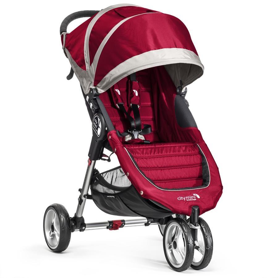 Baby Jogger Sittvagn City Mini 3W crimson/grey