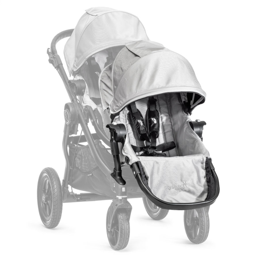 Baby Jogger Syskonsits Select  inklusive adapter till sittvagn, silver