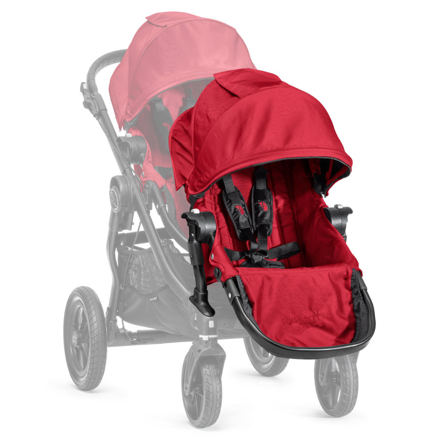 Baby Jogger Syskonsits Select  inklusive adapter till sittvagn, red