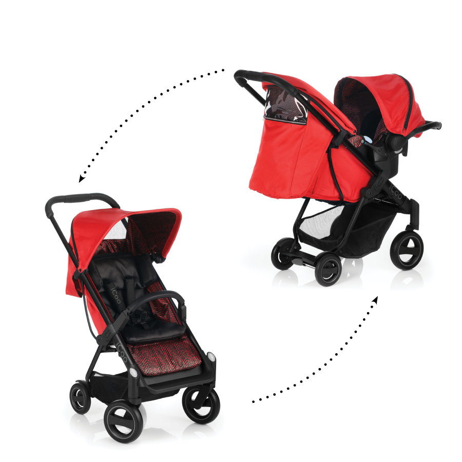 ICOO Buggy Acrobat Shop'n'Drive Fishbone red