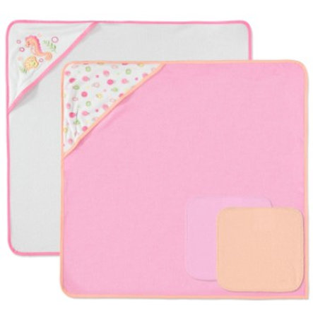 PINK OR BLUE Tvättset, 4 delar - rosa
