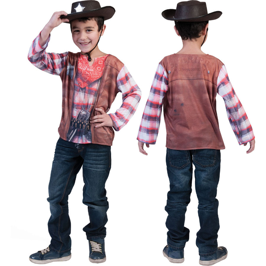 FUNNY FASHION Karneval 3D Shirt Cowboy