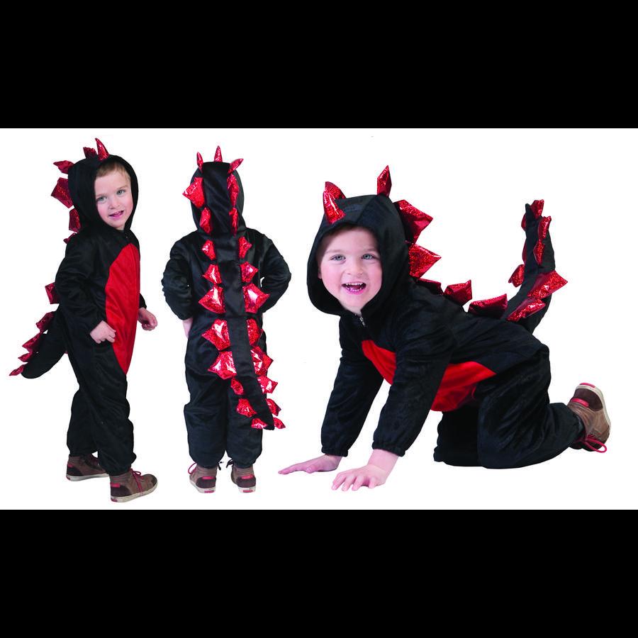 FUNNY FASHION Costume di carnevale Drago nero