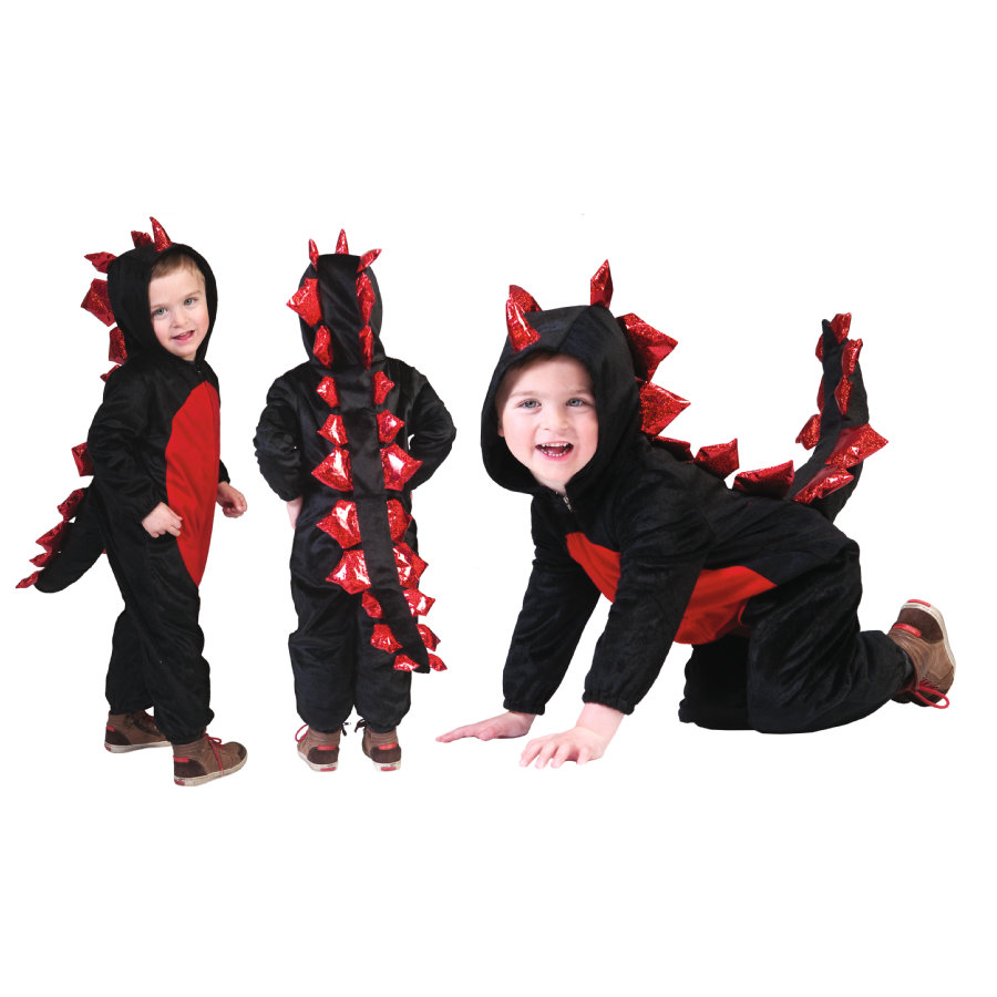 FUNNY FASHION Costume di carnevale Drago nero