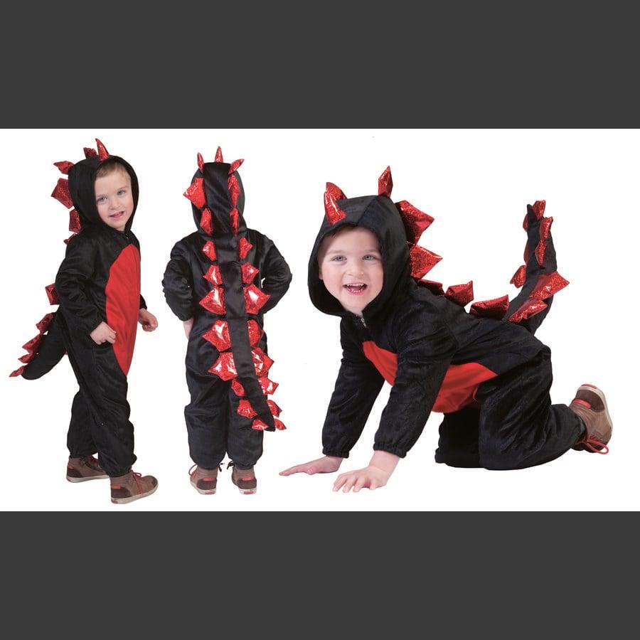 FUNNY FASHION Naamiaisasu Musta lohikäärme