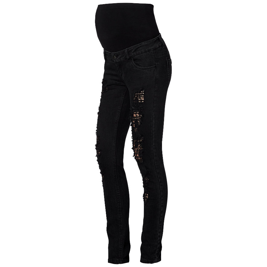 MAMA LICIOUS Umstands Jeans MLNADA Lace Slim Jeans
