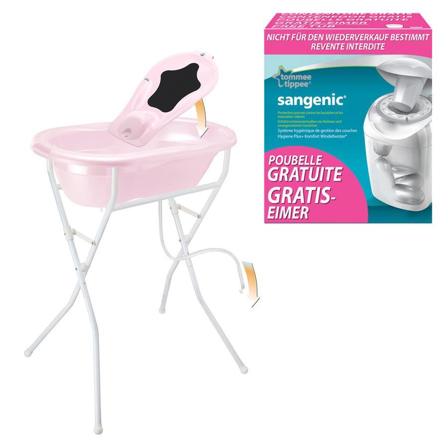 ROTHO Ensemble de soins TOP 5 pièces rose pâle nacré avec poubelle à  couches SANGENIC MK gratuite