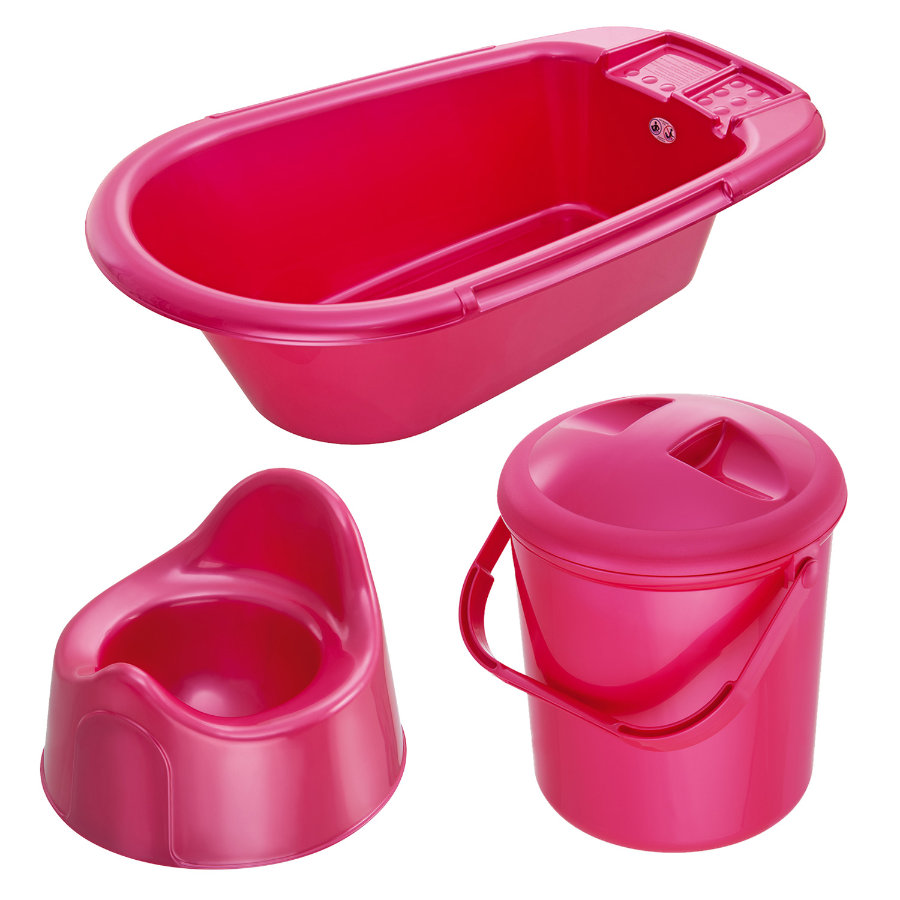 ROTHO Bella Bambina Care Seat, Bathtub, Nappy Bucket, Potty raspberry pearl