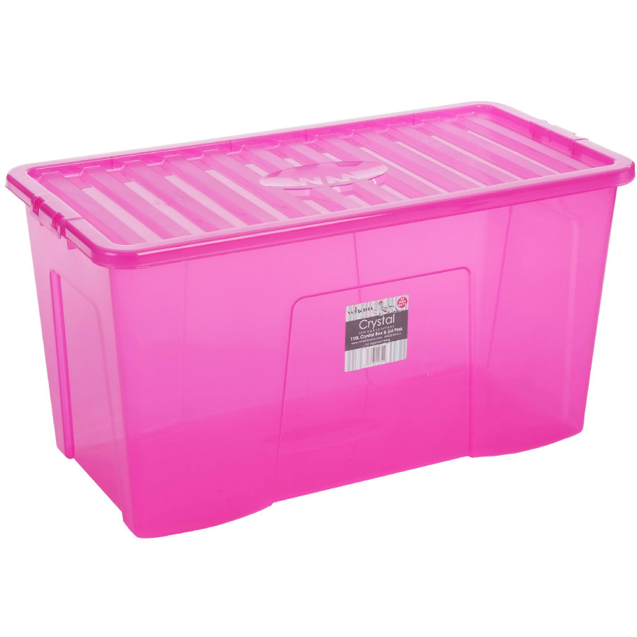 WHAM Crystal 110L Box mit Deckel, Pink
