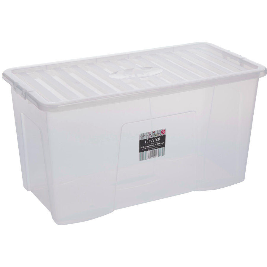 WHAM Crystal 110L Box mit Deckel, Transparent