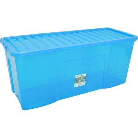 WHAM Crystal 133L Förvaringslåda med lock, blå