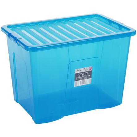 WHAM Crystal 80L Förvaringslåda med lock, blå