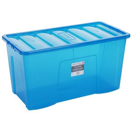 WHAM Crystal 110L Förvaringslåda med lock, blå