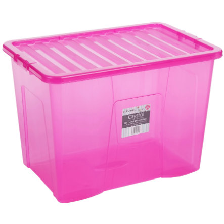 WHAM Crystal 80L Box mit Deckel, Pink