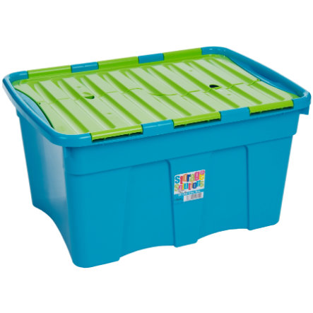 WHAM 54L Croc Box mit Deckel, Blueberry/Lime