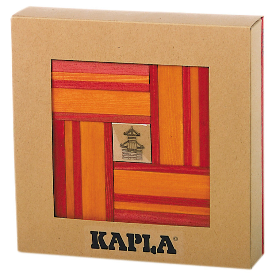 KAPLA Bausteine - Farbe rot und orange