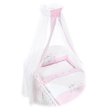 EASY BABY Bäddset Komplett-Set RABBIT rosa