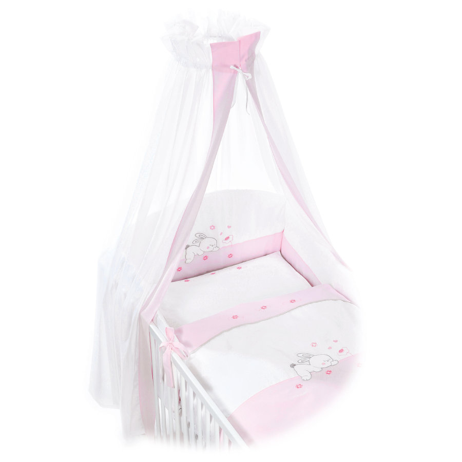 EASY BABY Bettwäsche Komplett-Set RABBIT rosé