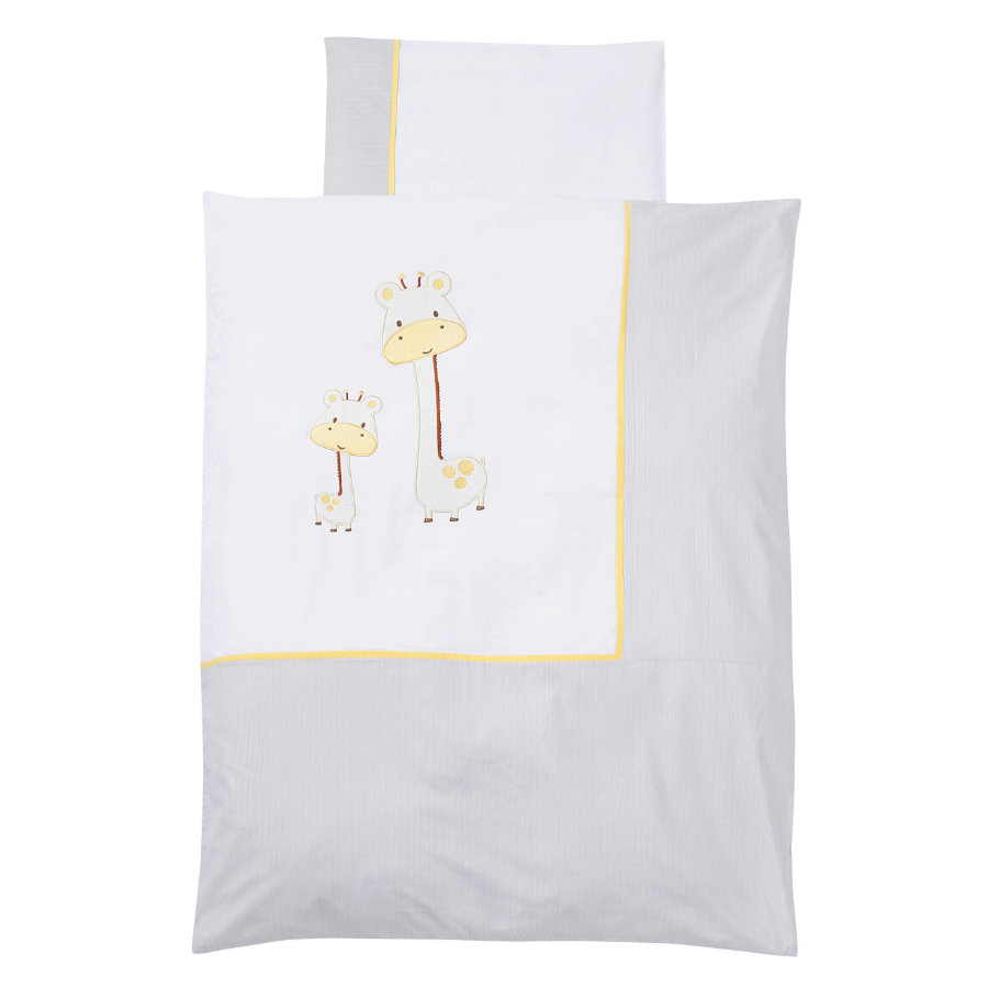 EASY BABY Bettwäsche-Set 100x135cm GIRAFFE white
