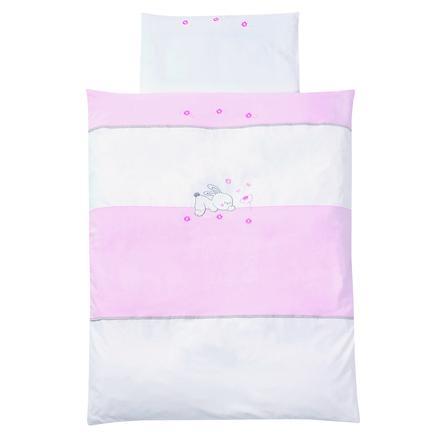 EASY BABY Ložní prádlo 100 x 135 cm RABBIT rosé