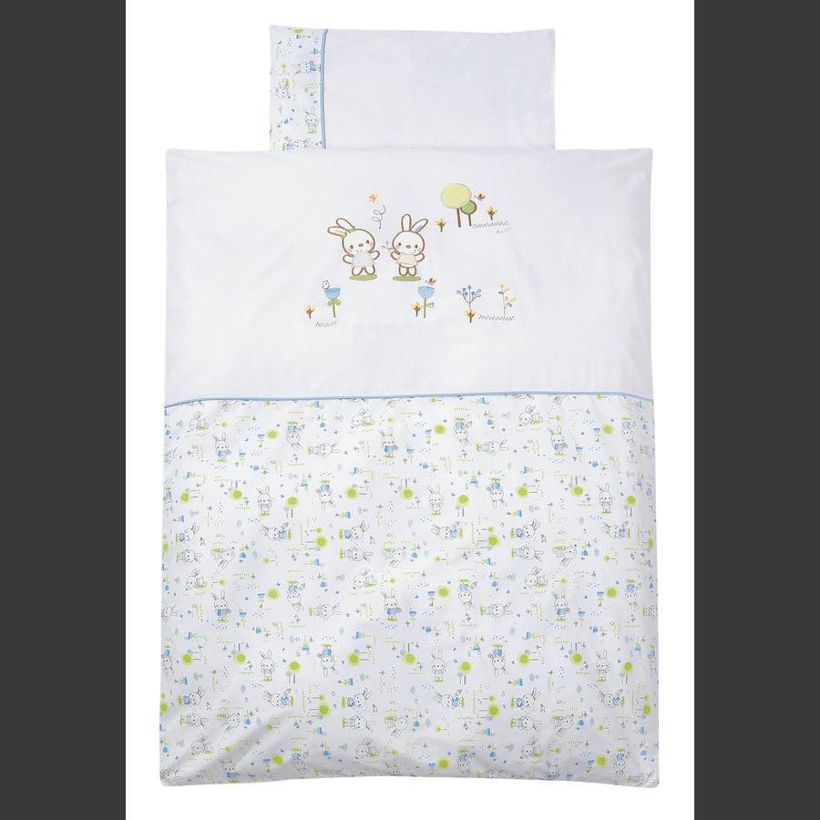 EASY BABY Komplet pościeli 100x135cm BUNNY white