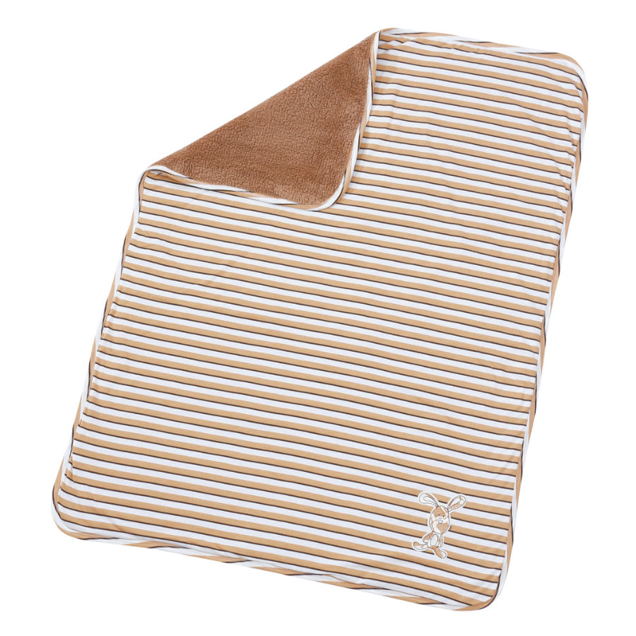 EASY BABY Kinderdecke 75x100cm brown